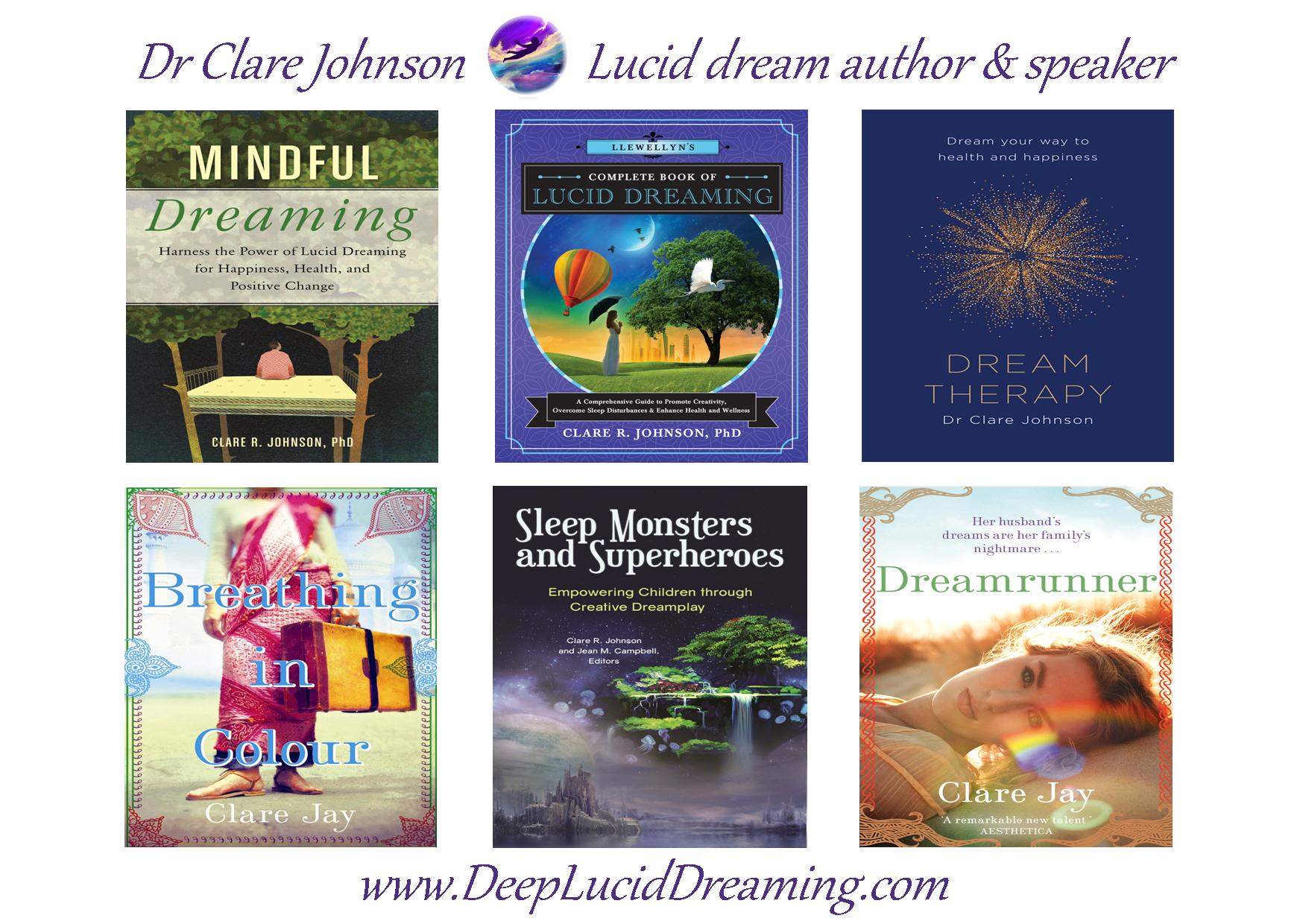 Dr Clare Johnson Books deepluciddreaming.com