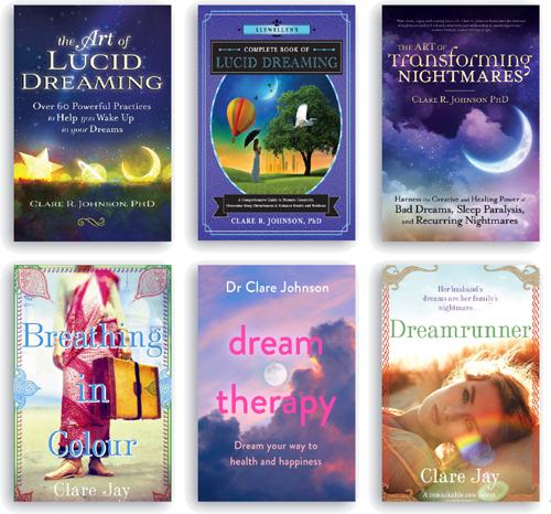 Dr Clare Johnson Books deepluciddreaming.com